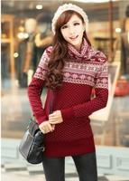 2012 onta turtleneck computer jacquard thickening sweater