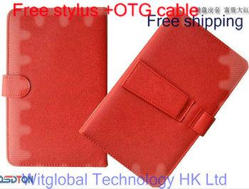 "9.7"" Manta Multimedia MID9701 /NavRoad Nexo 10 3G Tablet Stand USB Keyboard Leather Case +Stylus +OTG adapter Free Shipping"