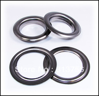 """100pc. Large #12 (1.5"""" Hole) Gun Metal Curtain Grommets with Washers"""
