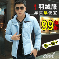 2013 men's autumn clothing thickening male personality the trend of fashion plus size thermal casual down coat male