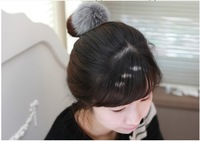 Free Shipping/ 2013 Fashion cute rabbit hair ball hair bands hair rope 4 color
