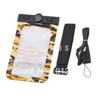 5.5 inch Camouflage Waterproof Underwater Pouch Case Dry Bag Armband for Samsung for iphone  200pcs/lot  free shipping