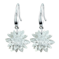 free shipping 925 pure silver  earrings female drop earrings