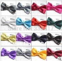 17 colors Gentleman series, high-grade fashion trendy double jacquard  man Pure color men Bow tie Series[800041]