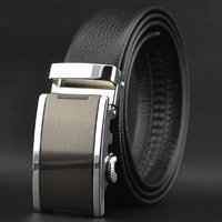 High Quality New Fashion First Layer Leather Belt Men's Automatic Buckle Belts Wholesale For Gift Free Shipping
