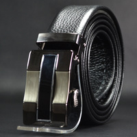 High Grade Automatic Two-Sided First Layer Leather Belt Men Embossing Automatic Buckle Belts Free Shipping