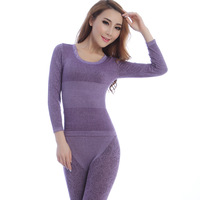 Thermal underwear lace seamless female o-neck modal long johns long johns thermal set bn8084
