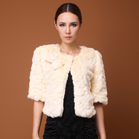 Hot-selling 2013 winter ladies small all-match rabbit fur vest fur short jacket