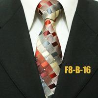 High Quality Classic Hot Check Gatsby Check Neckties For Men Business Formal Groom Plaid Ties For Man Gravatas 8CM F8-B-16