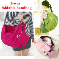 Hot New Unisex Foldable Women/Men Handbag,Street Shopping Shoulder Bags Totes Storage Luggage Travelling Bagpack Schoolbag B25