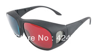 New Arrival Fashion Red&Blue Glass Black Plastic Frame 3D Stereo Glasses