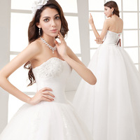 2014 new arrival princess bride married fashion pop bandage plus size wedding dress 358#