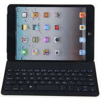 Wireless 3.0 Interface Dust-proof Magnetic Aluminum Bluetooth Keyboard for iPad Mini (Black)