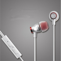 Best Brand Ivery 3.5mm Stereo In Ear Metal Earphones and Headphone Headsets With Mic For Mobile Phone /MP3 In Stock