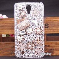 Luxury 3D Bling Rhinestone Bag Flower Diamond Case For Samsung Galaxy Mega 6.3 i9200.