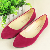 2013 vintage velvet single shoes female flat heel pointed toe shallow mouth work shoes casual gentlewomen