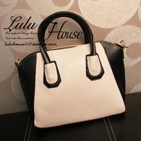 2014 fashion vintage bag one shoulder handbag women's handbag color block bag