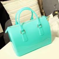 Summer fashion vintage candy color bucket handbag jelly bag 2014 women's handbag fashion handbag