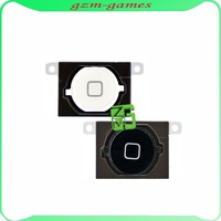 10pcs/lot For iPhone 4S Home Menu Return Button Keypad with Rubber Gasket Black or White Free Shipping