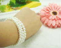 Free shipping 6mm diameter high imitation pearl bracelet bracelet jewelry Korean Hair band lap  Multicolor    jyp72