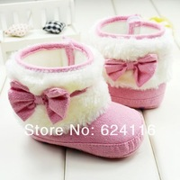 BX60 6pairs/lot Gift Fashion Warm Cotton Bow Princess Footwear Baby First Walker Shoe Toddler Baby Shoes Snow Boots Girl Infant