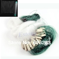 25m Clear White Green Monofilament Fishing Fish Gill Net with Float New