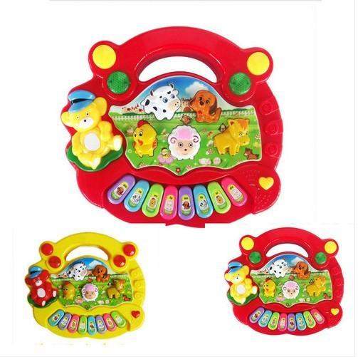 Useful Baby Kid Musical Educational Animal Farm Piano Music Toy Developmental[HZC014](China (Mainland))
