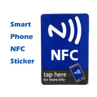 5pcs/ Lot 1KB Universal Phone NFC Sticker For Samsung Sony HTC Huawei Except For  NEXUS 4/7, BLACKBERRY AND SAMSUNG S4 note 3