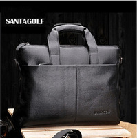 Free shipping SNATAGOLF designer genuien leather business laptop briefcase portfolio,suitcase tote bag handbag