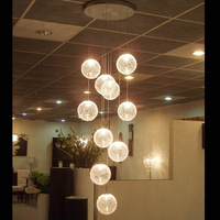 10 Bulbs Included Modern Crystal Chandelier Light Fixture 30Watt High Power Chandelier Home Lamp