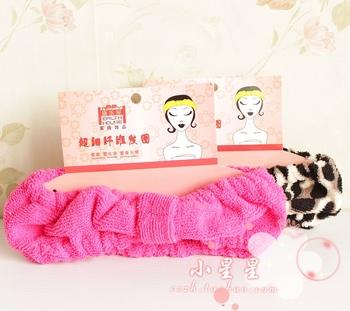 New Korean version of the lovely princess coral velvet bow headband makeup face wash hair bands ribbon 2 color optional