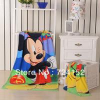 Hot Sale Retail  children's bathrobes / Cute cartoon bath towel 100%cotton hand face//Blanket kids child bath beach towel Mickey