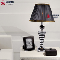 Led quality brief k9 crystal table lamp luxury table lamp vertical bedroom bedside lamp