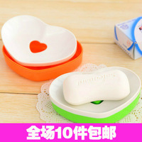 6304 soap box double layer love soap tray water soap box