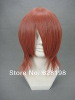 "Costume Party shimizu raikou Unisex Party Cosplay Wig 10"" (Firebrick)"
