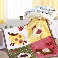 Baby super soft raschel blanket 110*110cm