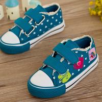 2013 autumn girls shoes low lace princess child canvas shoes single shoes skateboarding shoes female