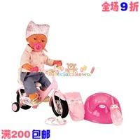 Zapf creation baby born doll artificial bicycle big set