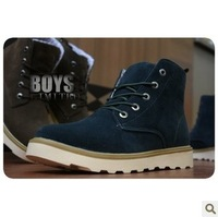 Free shipping 2013 new fashion british martin leather boots short ankle men shoes / sneakers