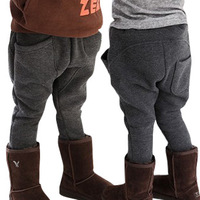Children's clothing 2013 winter male child thickening fleece comfortable abc harem pants child casual pants