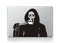 Free Shipping 2013 Designs Halloween Grim Reaper Sticker for Macbook Sticker