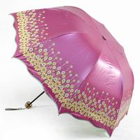 Romantic anti-uv sunscreen folding umbrella 2013 female