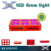 X2- 126*3W LED grow light 210W, 660nm:470nm:640nm:440nm:740nm = 60:12:24:12:12, full spectrum grow light greenhouse lighting