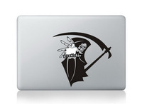 Free Shipping 2013 Designs Halloween Grim Reaper Decal for Macbook Decals