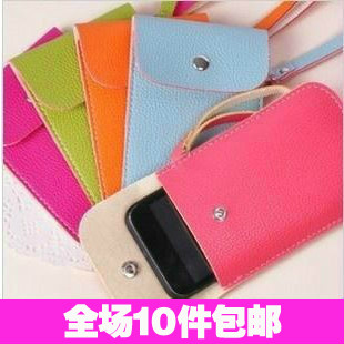 2256 candy color leather  for iphone   4s mobile phone bag cell phone pocket mobile phone case