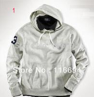 free shipping! new fashoin brand big horse sweatshirt hot new men hoodie coat Male hooded Hedging Thicken Fleece sweater h770