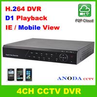 CCTV H.264 DVR Recorder 4CH Full D1 Playback 3G Mobile View Network Standalone DVR
