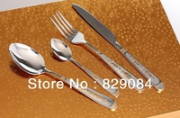 Free Shipping High Quality Fashion Stainless Steel kitchen 24 pcs Gift Exquisite Western Cutlery Sets