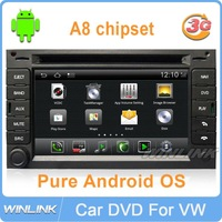 Pure Android 3G WIFI CPU 1GHz 4G Flash Memory Car DVD GPS for VW Passat B5 B6 Golf MK4 Polo BORA Navi Free Map Canbus included