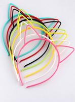 Cat ears rabbit ears hair bands hair pin rabbit hair accessory headband candy color luminous